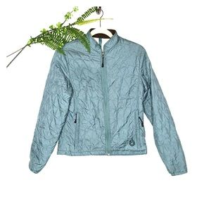 Isis Quilted Lightweight Jacket Blue Pockets